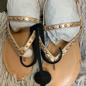Rose Gold studded Sandals